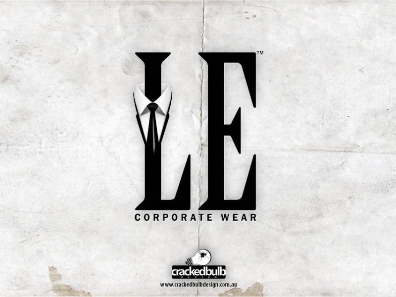 LE Corporate Wear Logo Design