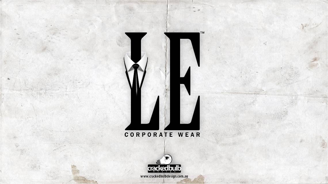 LE-corporate-wear-logo-design-brisbane-cracked-bulb