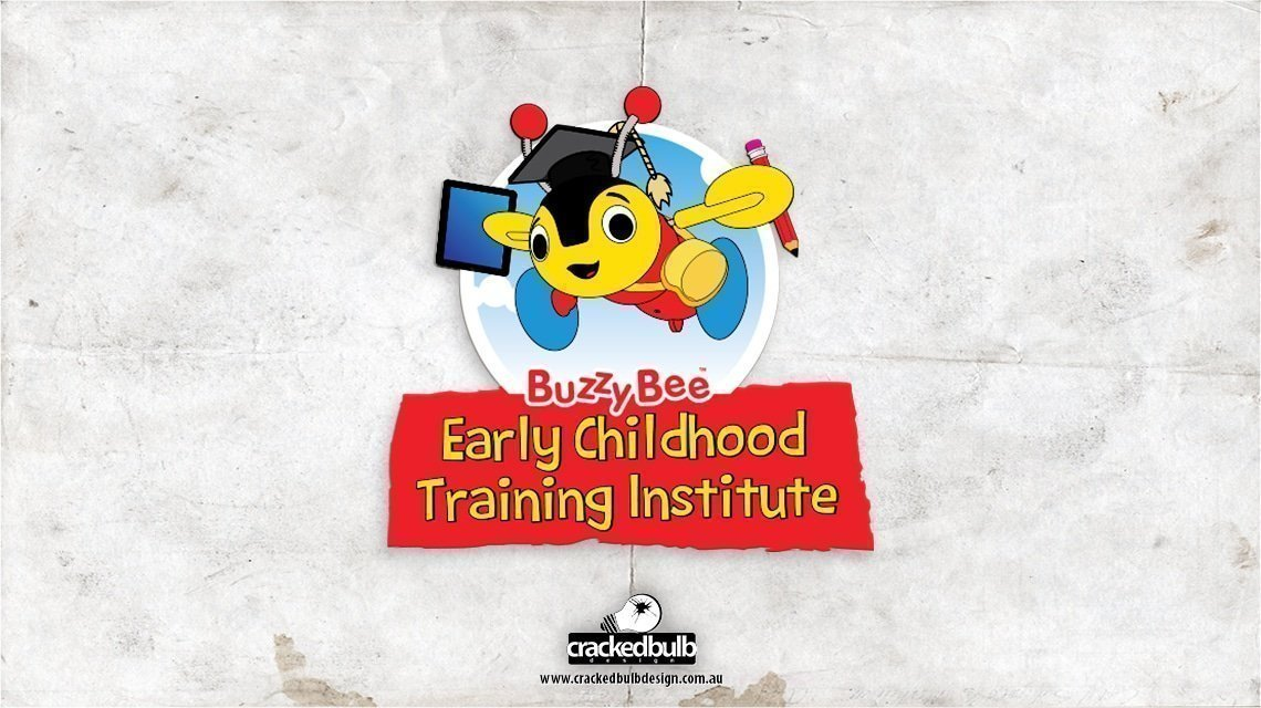 buzzy-bee-early-learning-centre-logo-design-brisbane-cracked-bulb