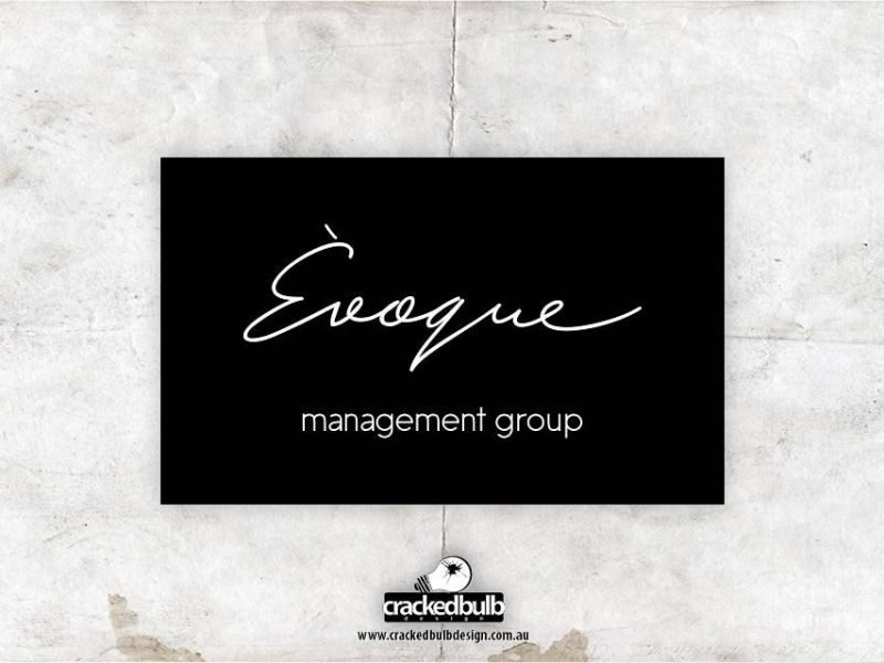 Évoque Management Group Logo Design
