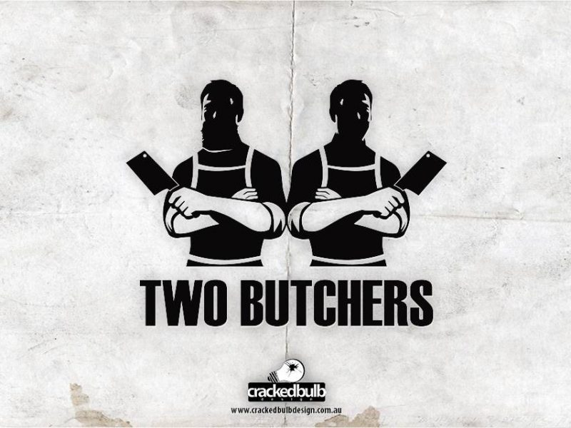 Two Butchers Logo Design
