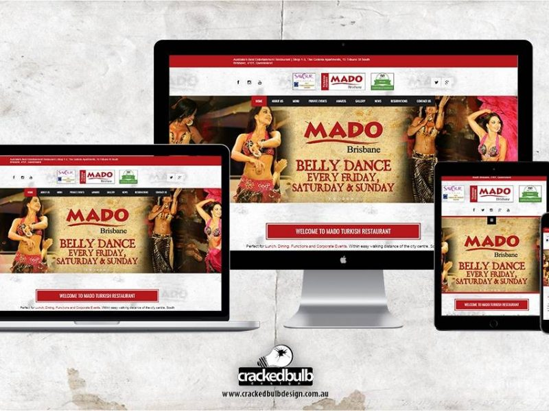 Mado Restaurant Website Design