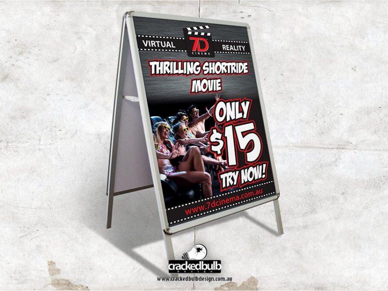 7D Cinema A Frame Signage