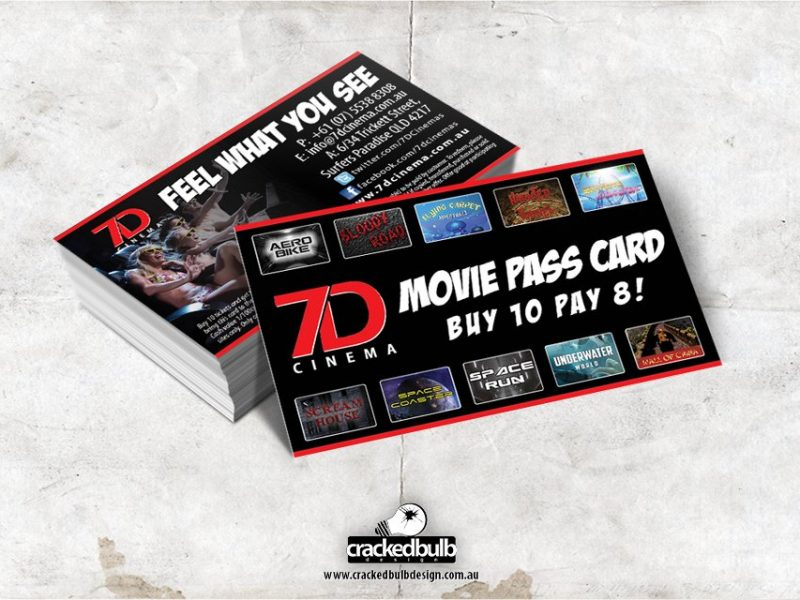 7D Cinema Loyalty Cards Design