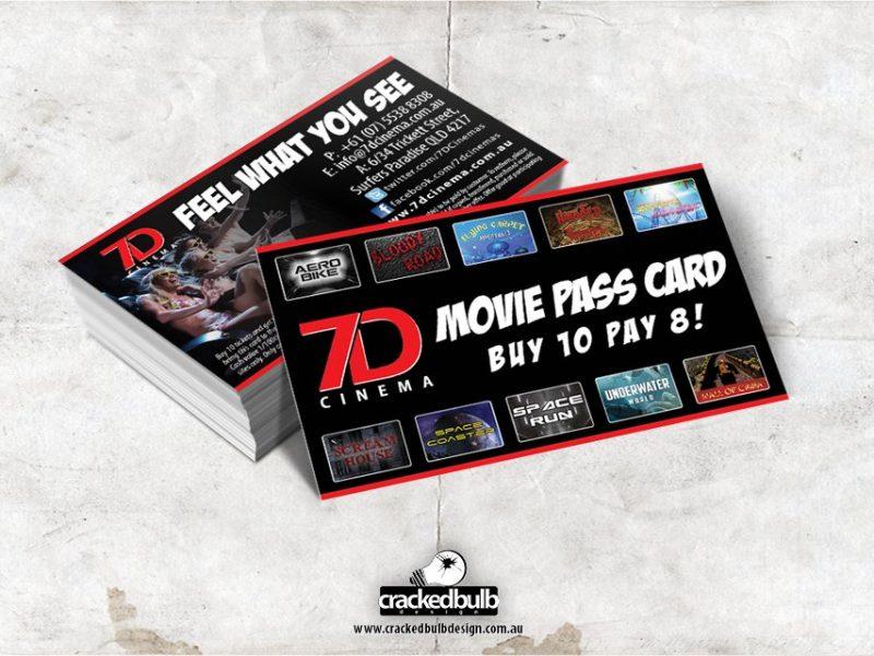 7D Cinema Loyalty Cards Design
