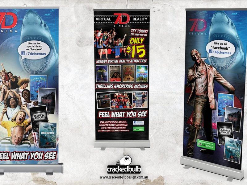 7D Cinema Pull-up Banner Design