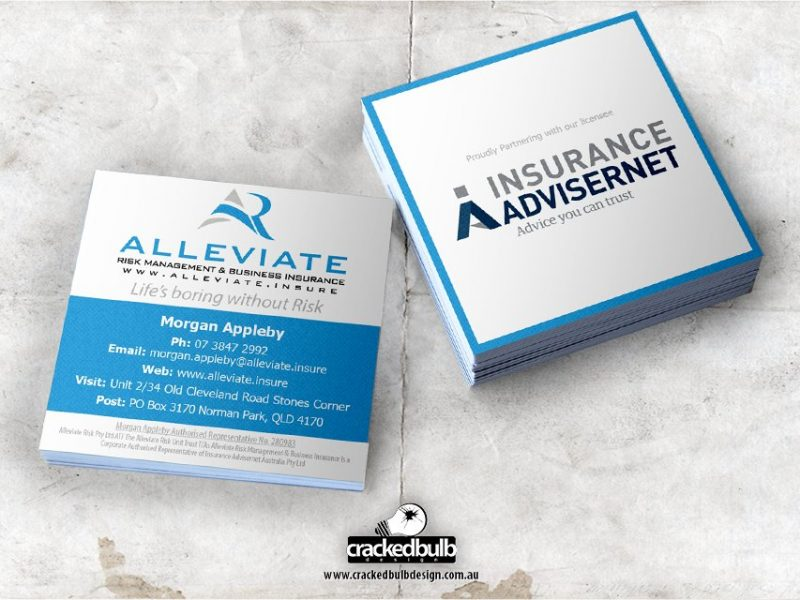 Alleviate Risk Management Business Card Design