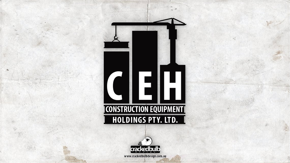 Construction-equipments-holdings-logo-design-brisbane-cracked-bulb