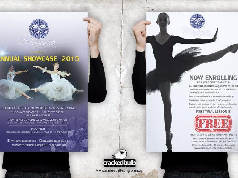 Maximo Dance Studio Concert Poster Design