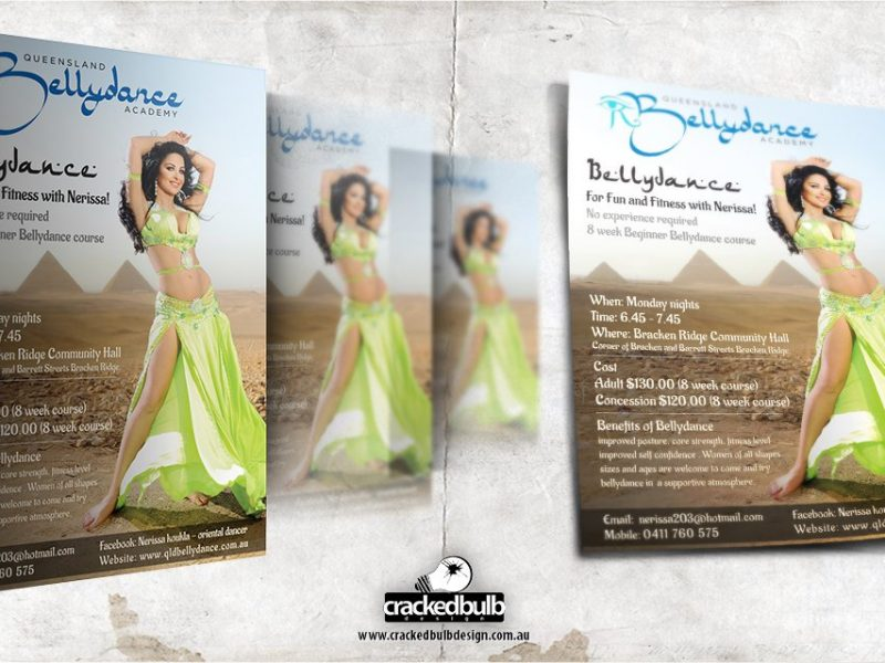 Nerissa Belly Dancer Poster & Flyer Design