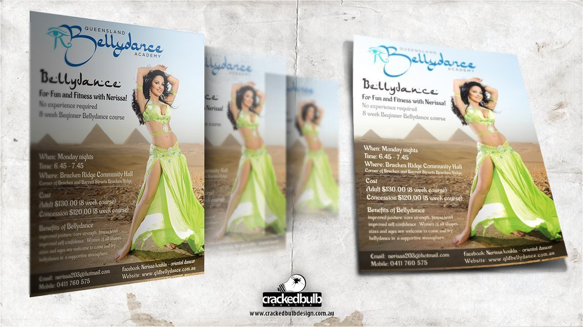 Nerissa-belly-dancer-flyer-poster-print-design-brisbane-cracked-bulb