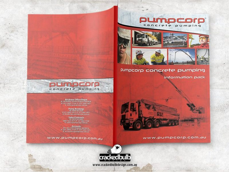 Pump Corp Concrete Pumping Company Profile Design