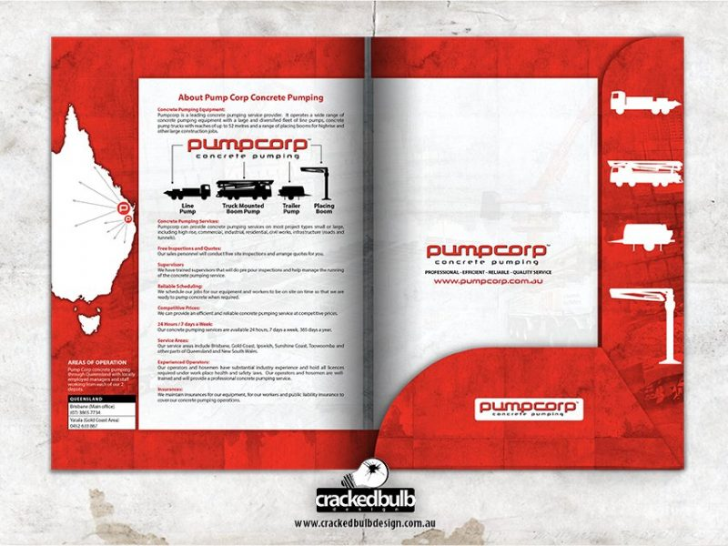 Pump Corp Concrete Pumping Presentation Folder Design