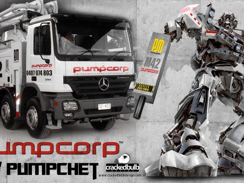Pump Corp Concrete Pumping Poster Design
