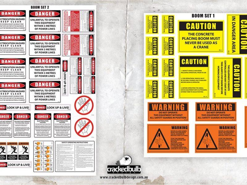 Pump Corp Concrete Pumping Safety Sticker Set Design
