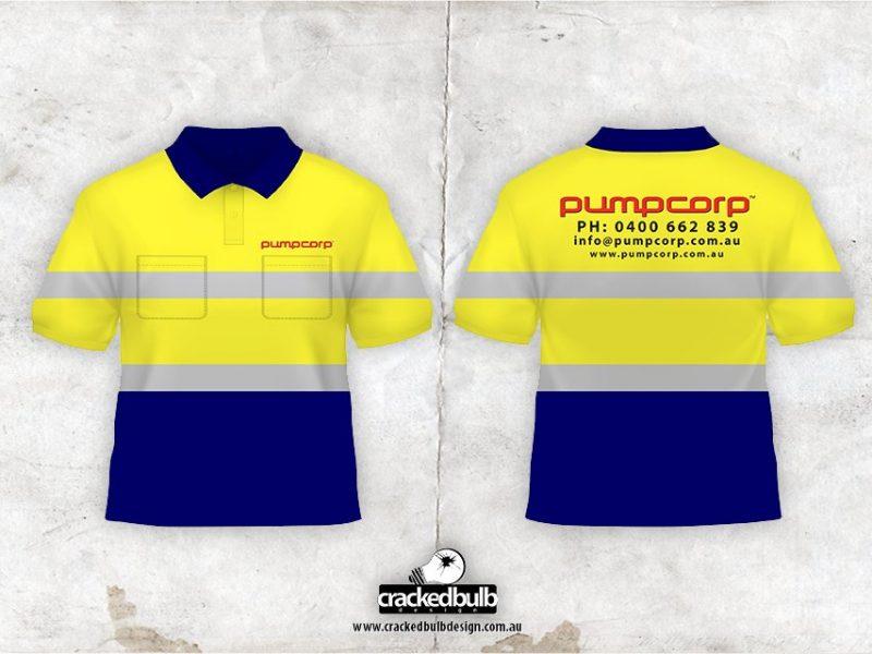 Pump Corp Concrete Pumping Safety Shirt Design