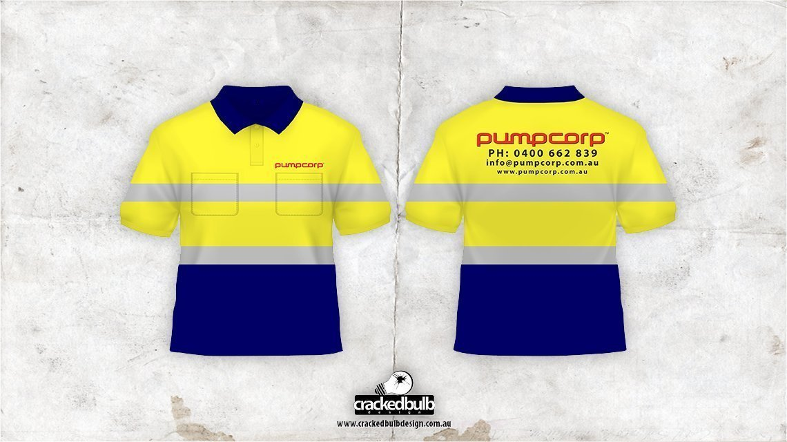 Pump Corp Concrete Pumping Safety Shirt Design - Cracked ...