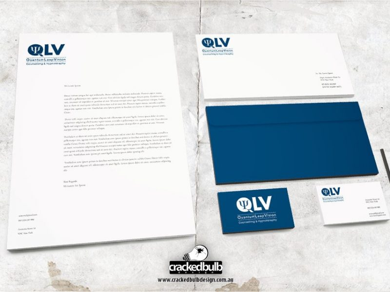 QLV Counselling and Hypnotherapy Stationery Design