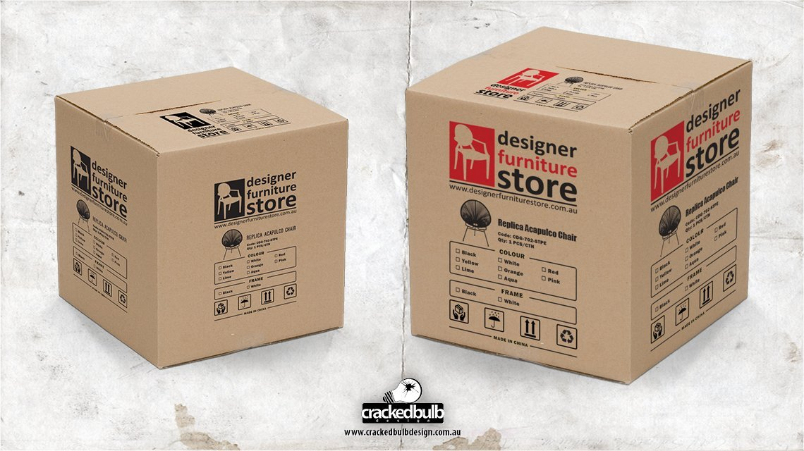 designer-furniture-store-box-packaging-print-design-brisbane-cracked-bulb