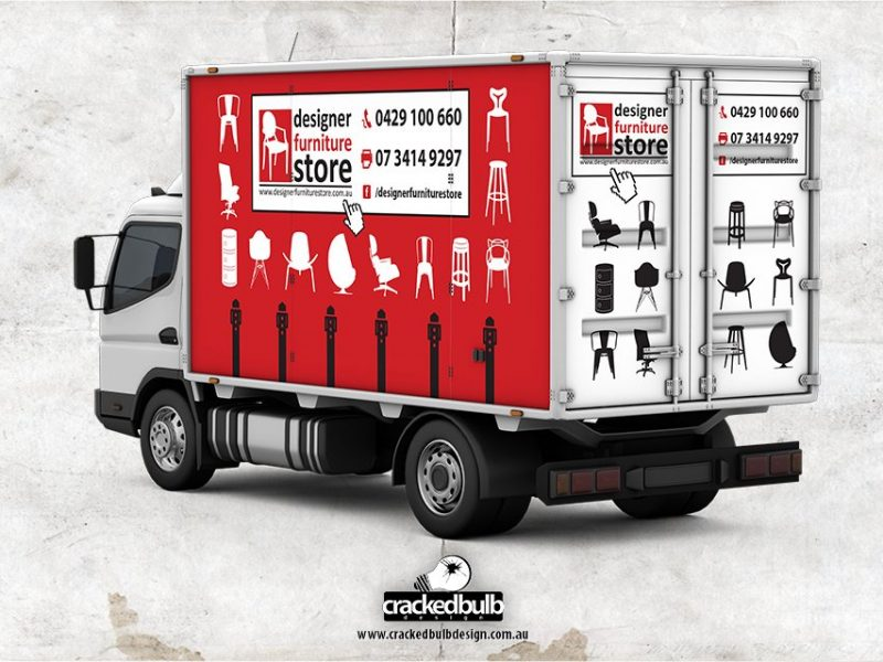 Designer Furniture Store Truck Vehicle Visuals Design