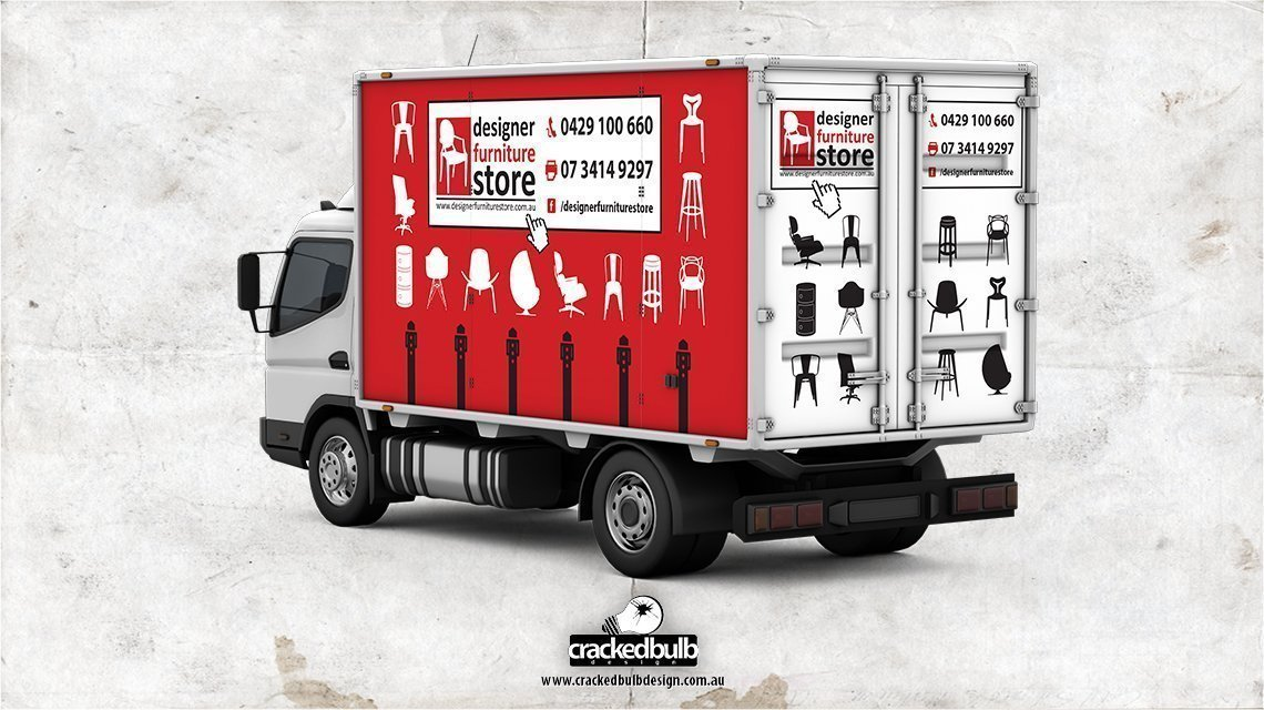 designer-furniture-store-truck-vehicle-print-design-brisbane-cracked-bulb