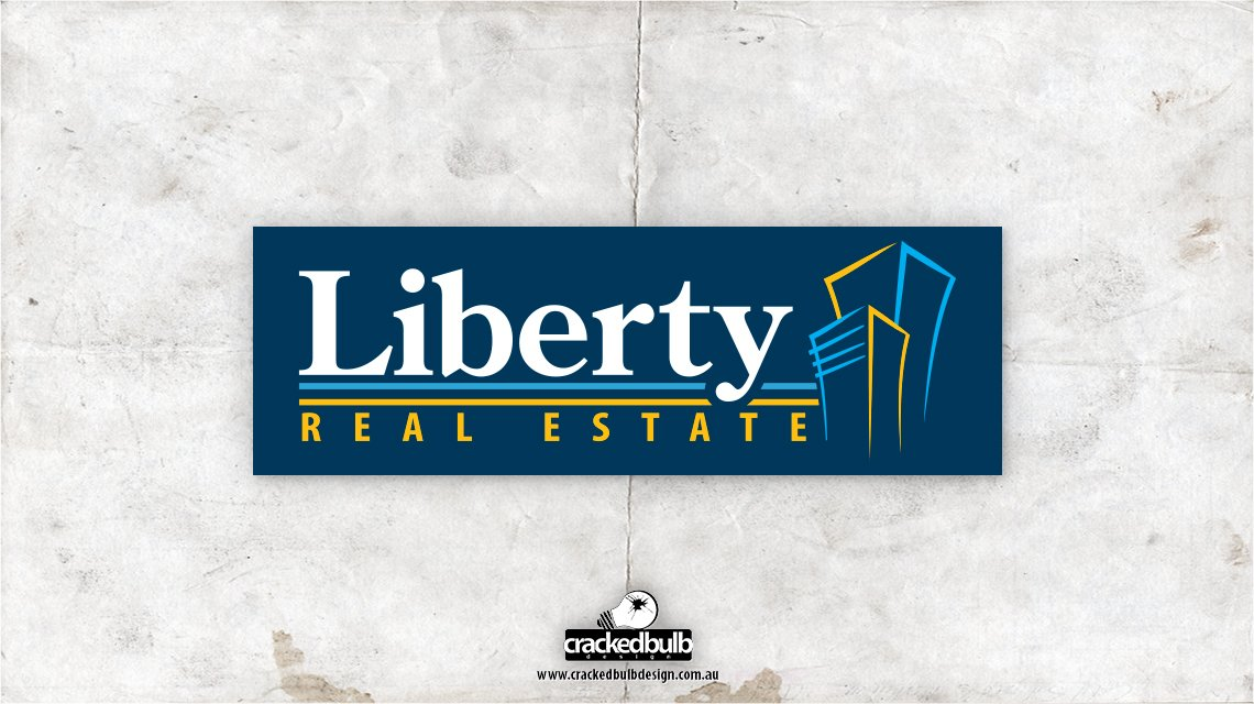liberty-real-estate-logo-design-brisbane-cracked-bulb
