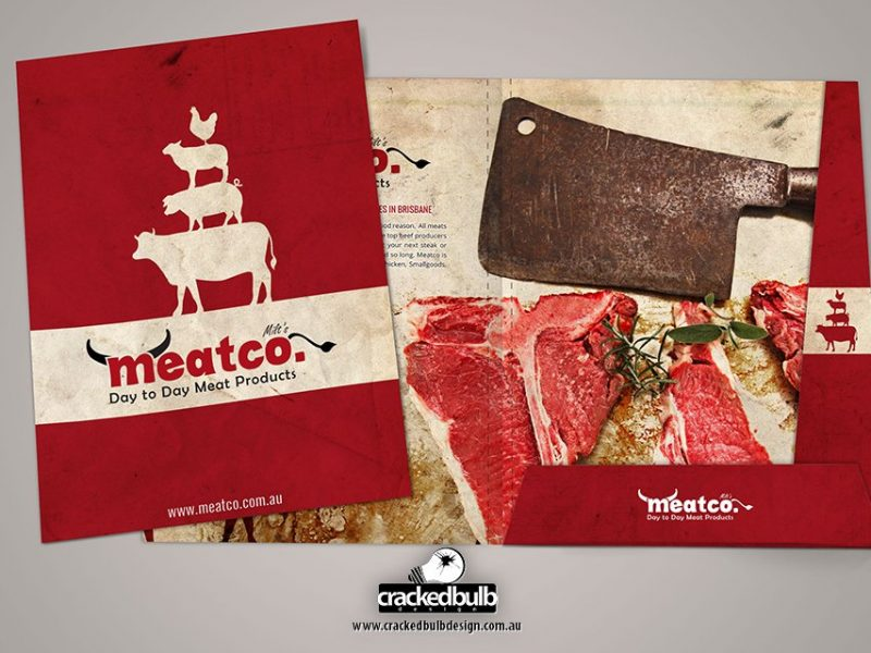 Meatco Presentation Folder Design