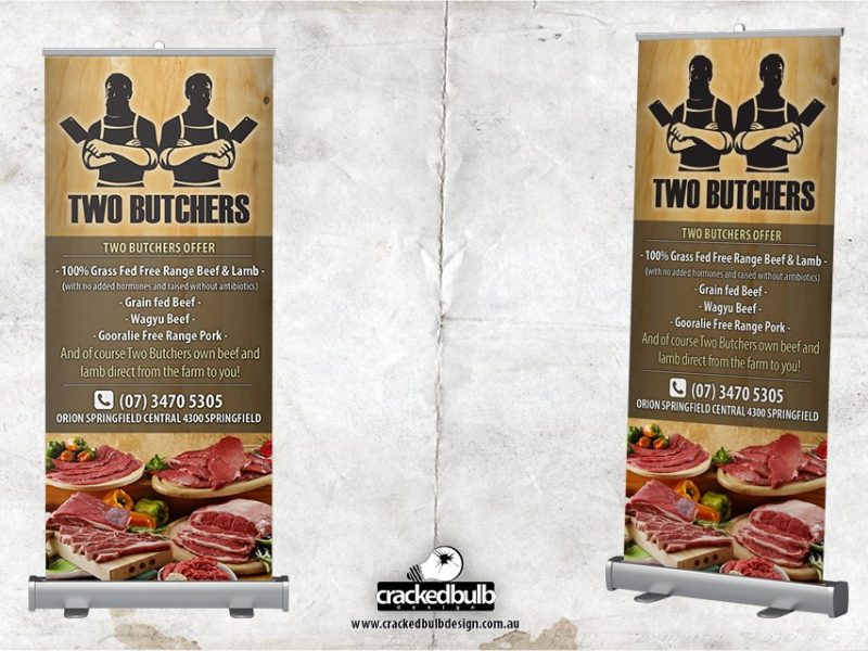 Two Butchers Pull-up Banner Design