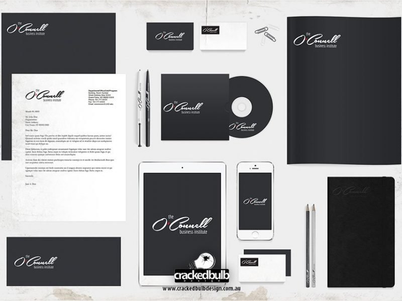 The O'Connell Business Institution Stationery Design