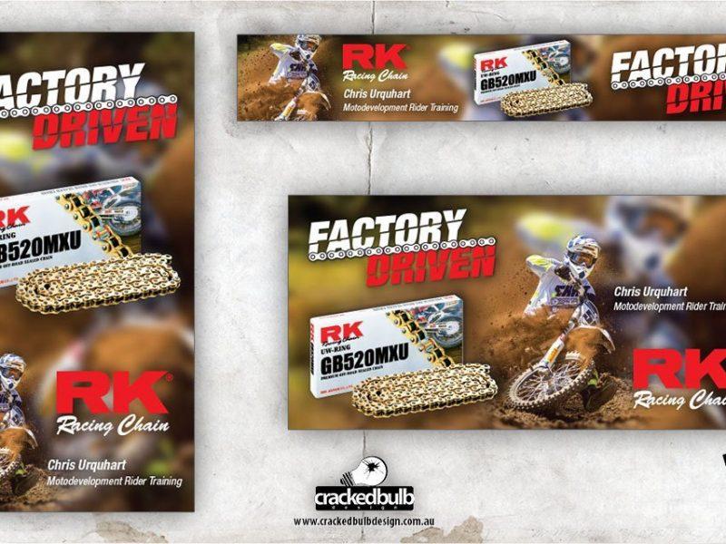 RK Motorcycle Chain Web Banner Design