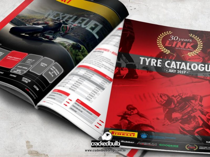Link International Tyre Catalogue Design