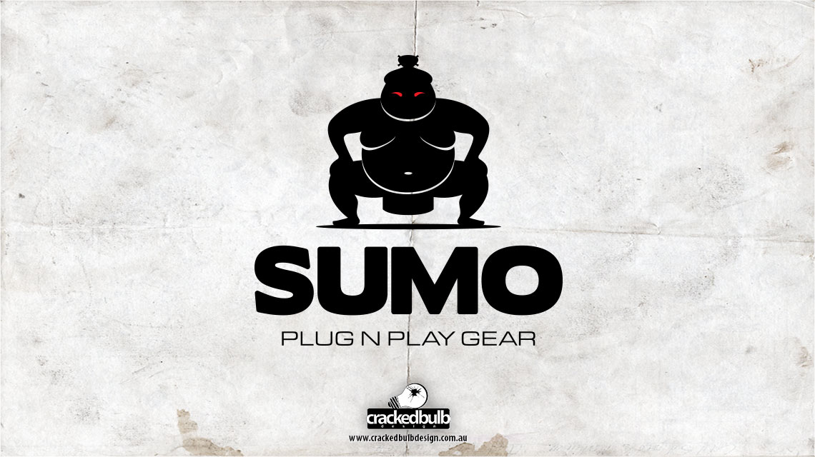 Sumo-plug-n-play-gear-logo-design-brisbane-cracked-bulb