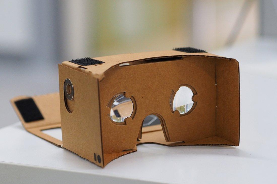 Image courtesy of [othree](https://en.wikipedia.org/wiki/Google_Cardboard#/media/File:Assembled_Google_Cardboard_VR_mount.jpg) via Wikipedia