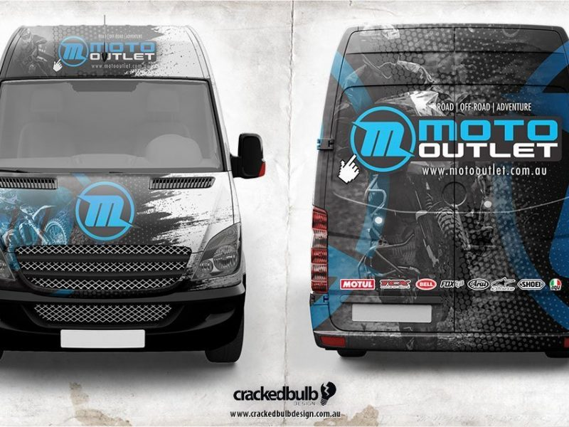Moto Outlet Vehicle Wrap Design