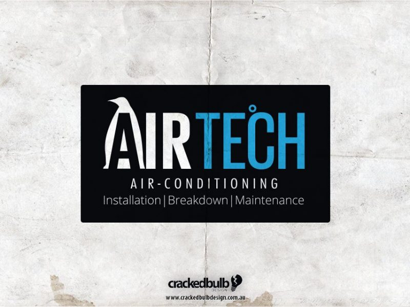 Airtech Air Conditioning Logo Design