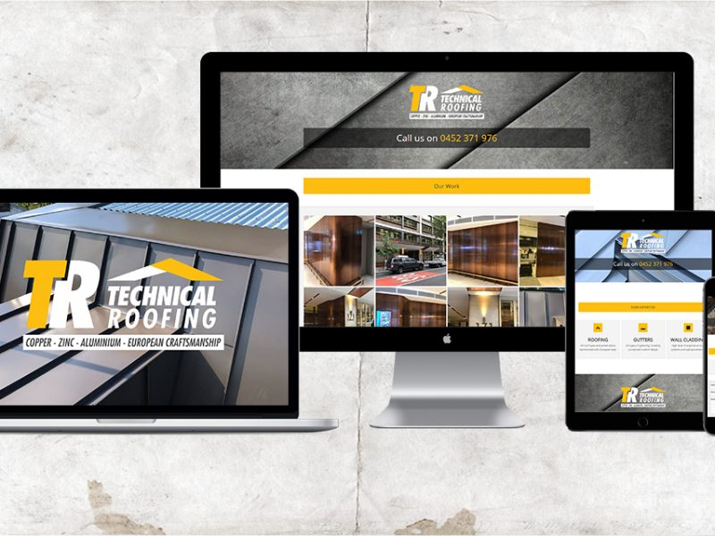 Technical Roofing Web Design