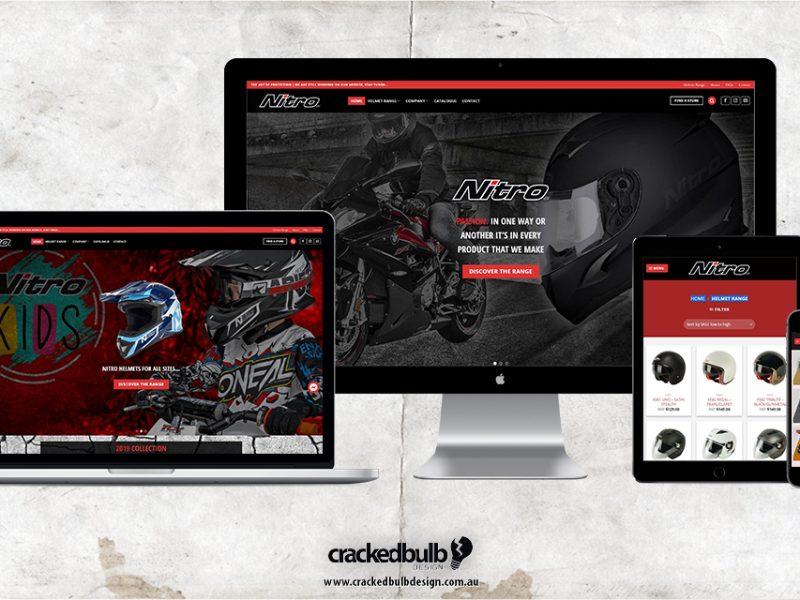 Nitro Helmets Australia Web Design