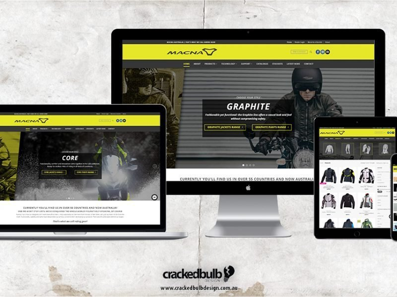 Macna Riding Gear Web Design